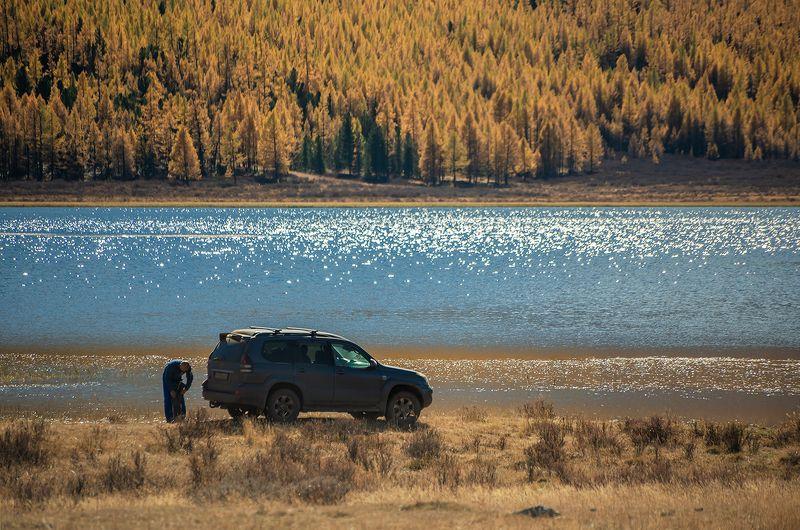 алтай, горный алтай, озеро, блики, осень, лиственницы Улыбка природы…photo preview