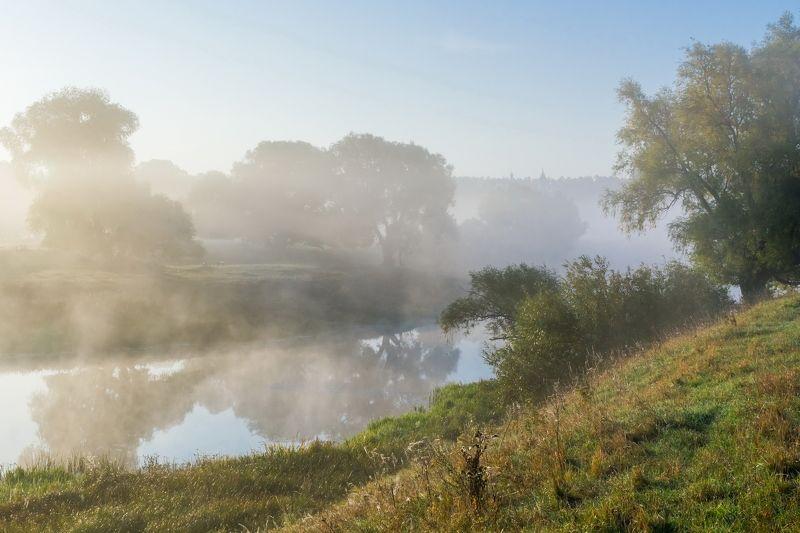 утро, туман, река, осень, пейзаж Утром туманнымphoto preview