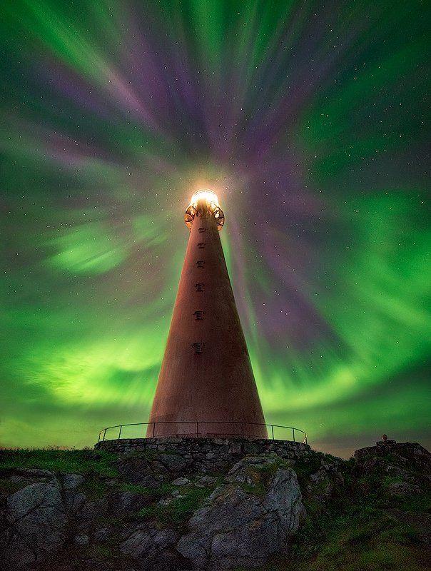 анденес, норвегия, север, северное сияние Небесная буряphoto preview