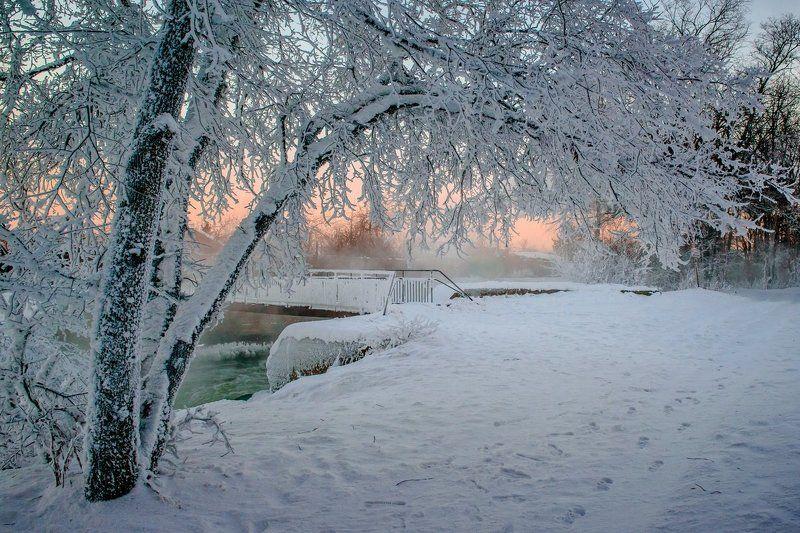 Мороз зима Морозный ВОСХОД...photo preview