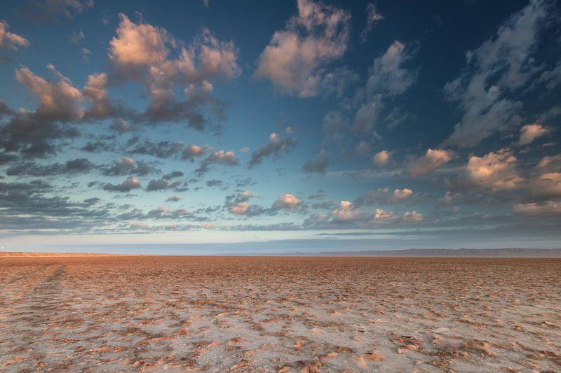 Сахара - рассвет на озере Шотт-эль-Джеридphoto preview
