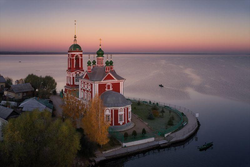 переславль_залесский, храм, утро, озеро, рыбаки. Рыбачье утро в слободе.photo preview