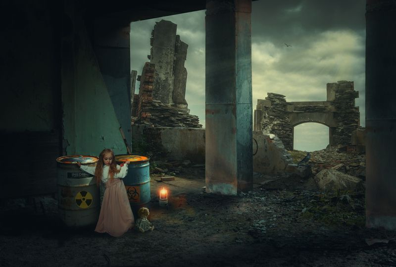 руины, девочка *****photo preview