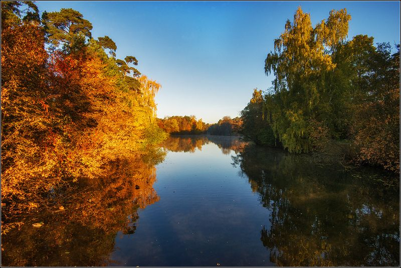 москва, осень, утро, озеро *  *photo preview