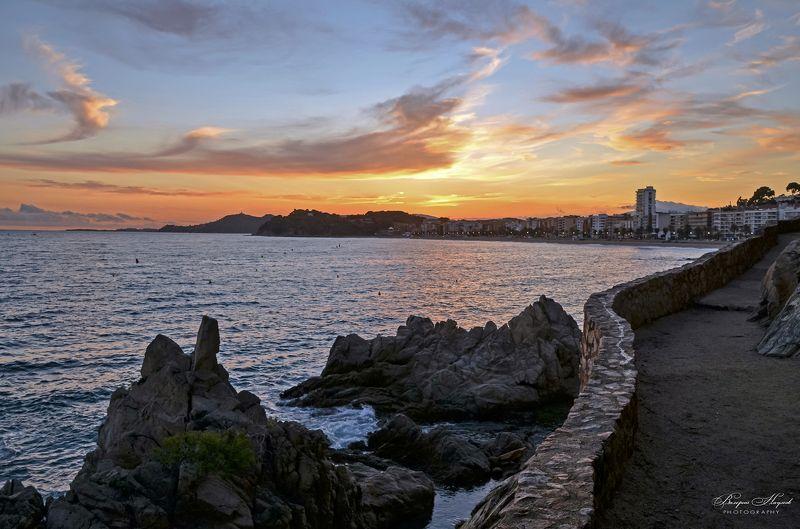 испания, льорет-де-мар, тропа, закат, вечер, октябрь Свет уходящего дняphoto preview