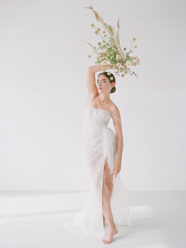 Modern Minimal Bridal Portrait on filmphoto preview
