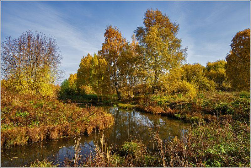 москва, октябрь, лес, река *****photo preview
