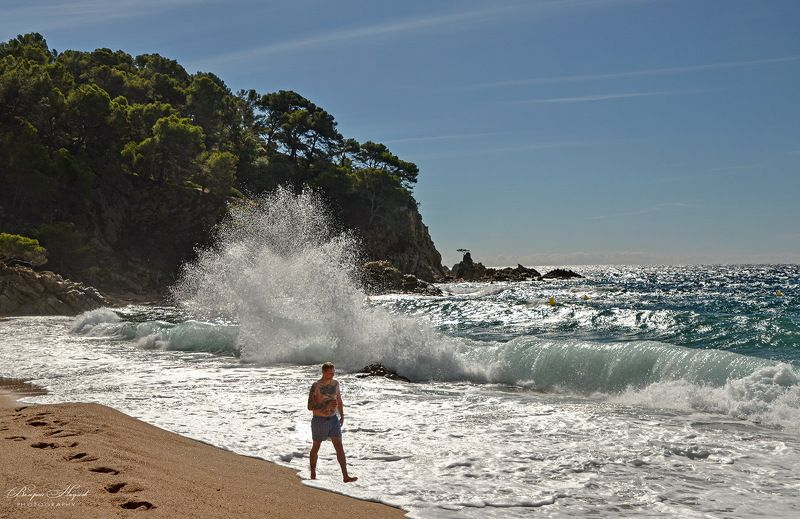 испания, льорет-де-мар, пляж, море, волна, октябрь Шумит море...photo preview