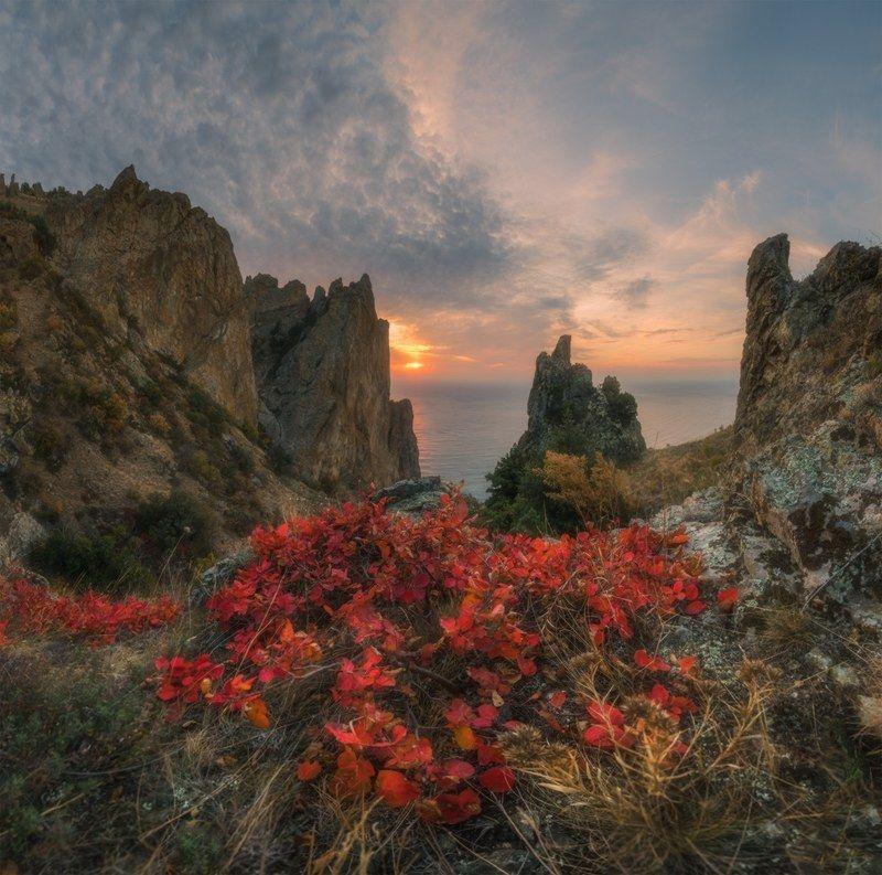 крым, кара-даг,октябрь,  осень, рассвет, Осенний Кара-Даг фото превью