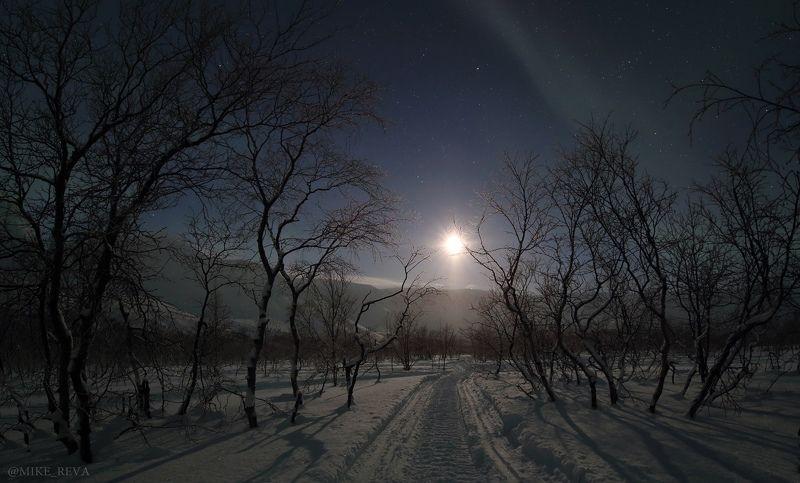 ночь звезды ночной пейзаж астрофотография хибины Безмятежностьphoto preview