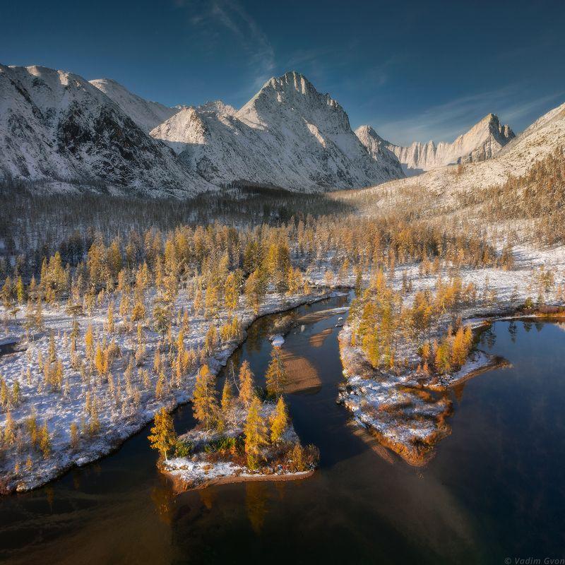 озероджекалондона, озероневидимка, магадан, колыма Встреча зимы и осени фото превью