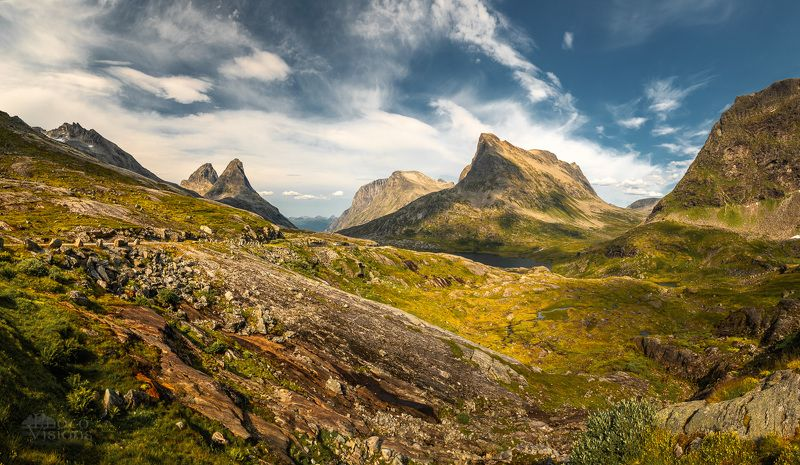 mountains,norway,summer,panoramic,pano,trollstigen Among the mountains фото превью