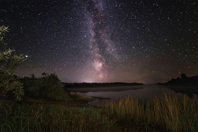 млечныйпуть, звезды, ночь, река про ясные ночи, млечный путь и речку Мологуphoto preview