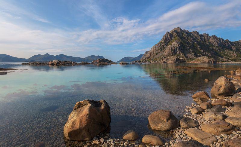лофотены, хеннингсвер, норвегия, горы, озеро, камни, вода, облака, Лофотенские острова. Хеннингсвер. Норвегия.photo preview