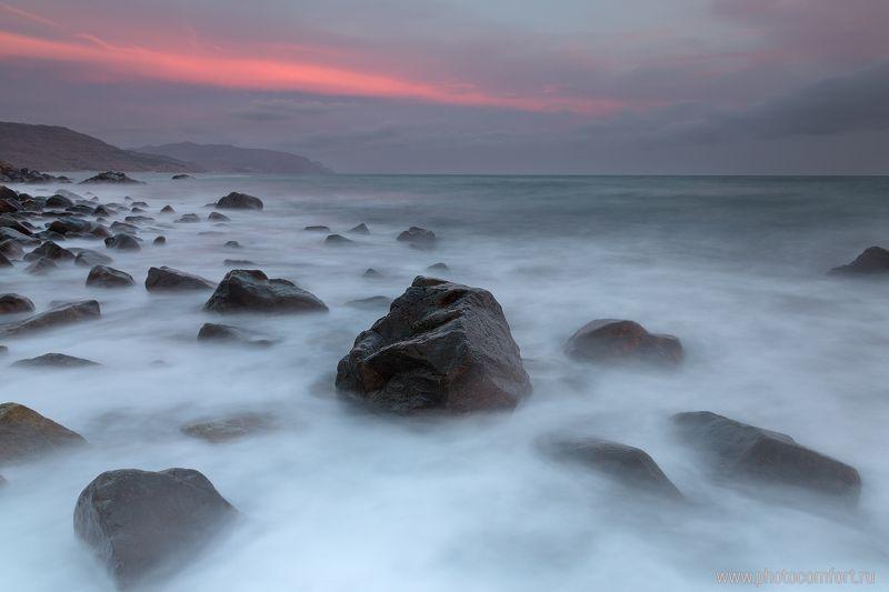море, закат, камни, long exposure, sea, water, sunset, landscape, nature Закат на мореphoto preview
