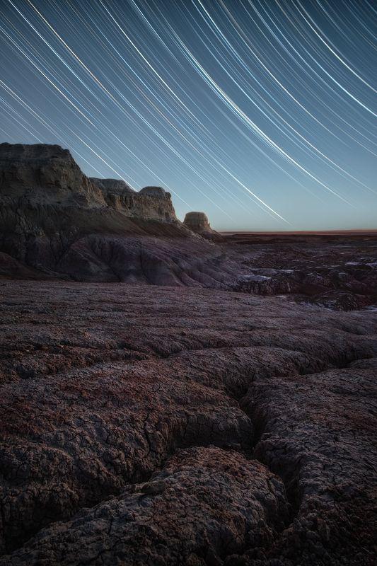 звезды, казахстан, вко, восточный казахстан, киин-кериш, астро, ночь, звездные треки, треки, startrail, startrails Сны Киин-Керишаphoto preview