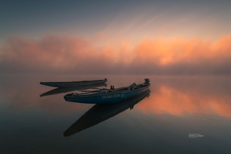 Nice, landscape, water, river, sunrise, clouds, Landscape with boats.photo preview