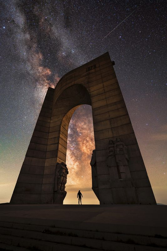 The Milky Way arch, through the arch of liberty, Troyan, Bulgariaphoto preview