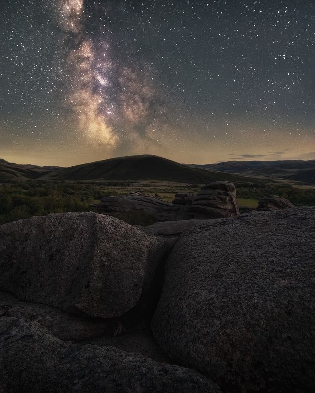 звезды, казахстан, вко, восточный казахстан, сибинские озера, астро, ночь, milky way, млечный путь Под покровом ночиphoto preview