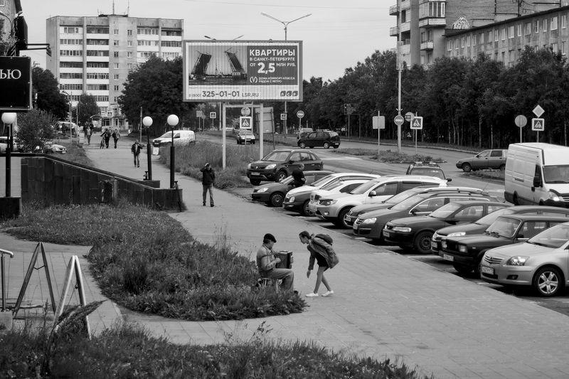 улица, музыкант, город, апатиты Уличный музыкантphoto preview