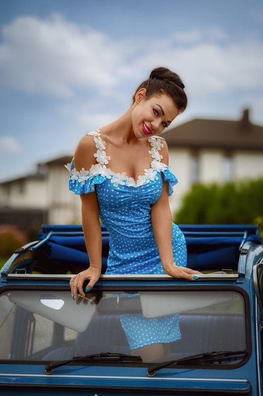 портрет девушка  красота нежность взгляд осень ретро стиль мода взгляд Светаphoto preview