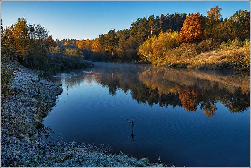 москва, осень, пруд В лучах утреннего солнцаphoto preview