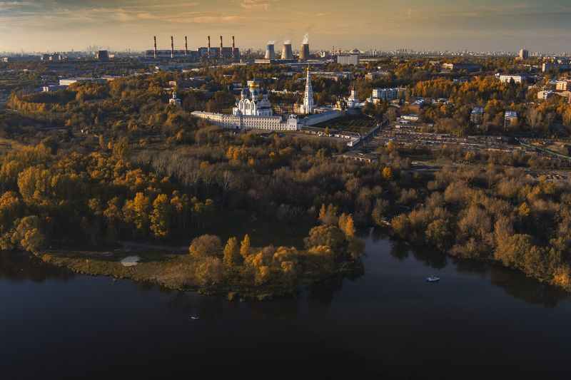 осень,закат,природа,монастырь ***photo preview