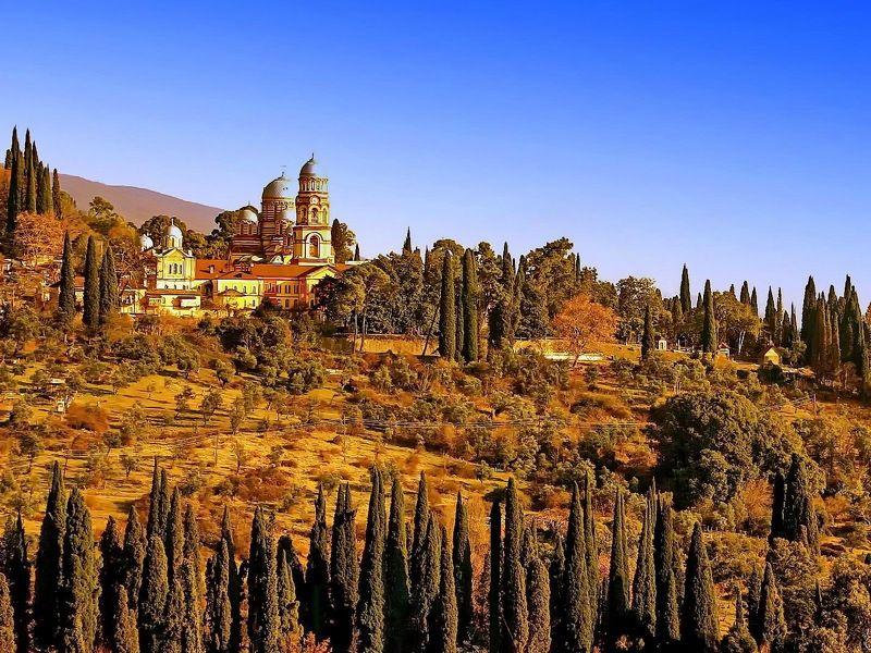 Осень. Монастырь. Ново-Афонский монастырь. photo preview