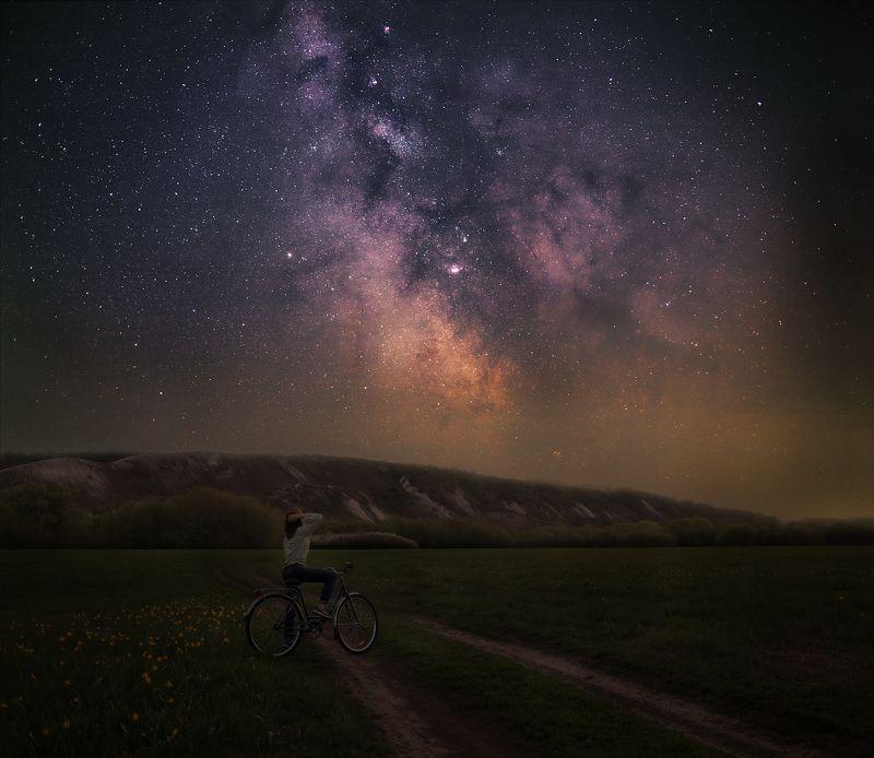 astrophoto, milky way, night, ночь, млечный путь, пейзаж, меловые горы Прекрасное далёкоphoto preview