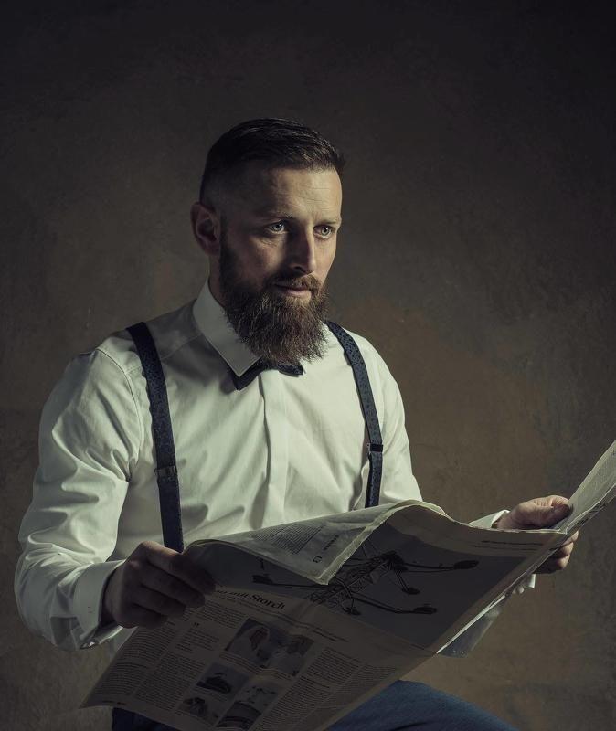 men, friends, photo, inside, portrait, beard portrait of a man with a beard photo preview