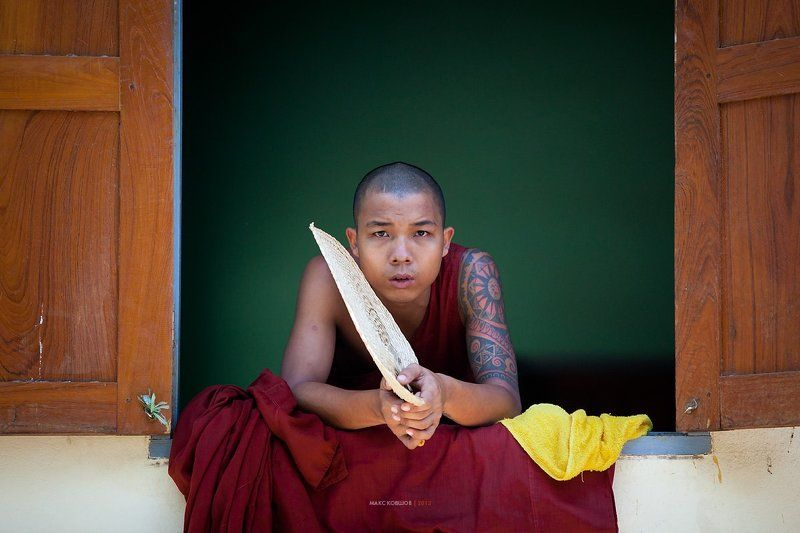 Баган, Бирма, Монах, Мьянма Мьянма. Лица #23photo preview