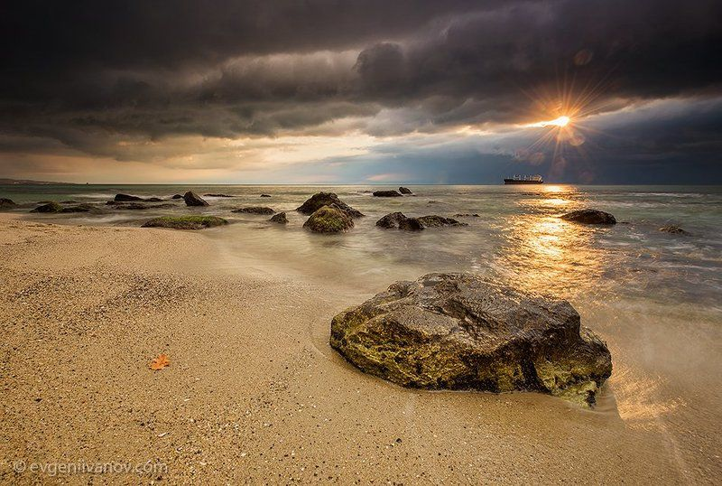 Blacksea, Bulgaria, Clouds, Cloudscape, Colorful, Dramatic, Dynamic, Landscape, Lee Hart Grad ND 0.9, Lee ND 1.2, Lit by sunlights, Rays, Sand, Sea, Seascape, Shells, Sky, Stones, Storm, Sun, Sunrise, Varna, Water, Waterscape, Waves After the stormphoto preview