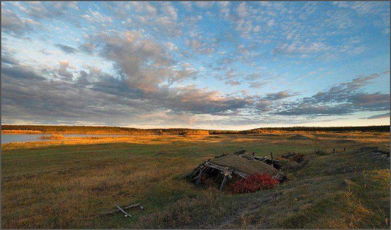 Якутия. Рассвет на озере Онёр-Эбе.photo preview