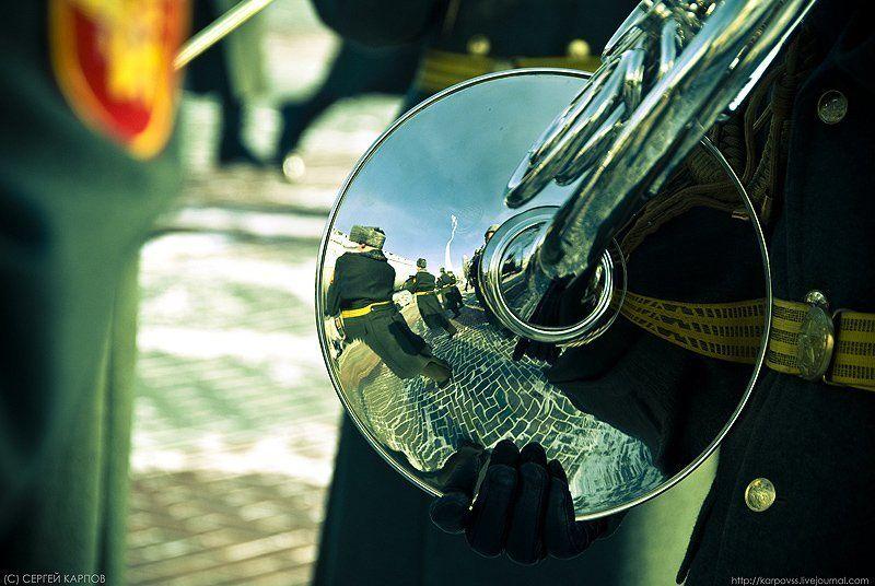 репортаж, оркестр, трубачи, отражение Трубачиphoto preview