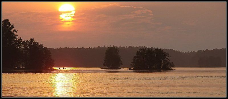 природа, рыбалка, пейзаж, закат, река, вуокса На вечерней зорькеphoto preview