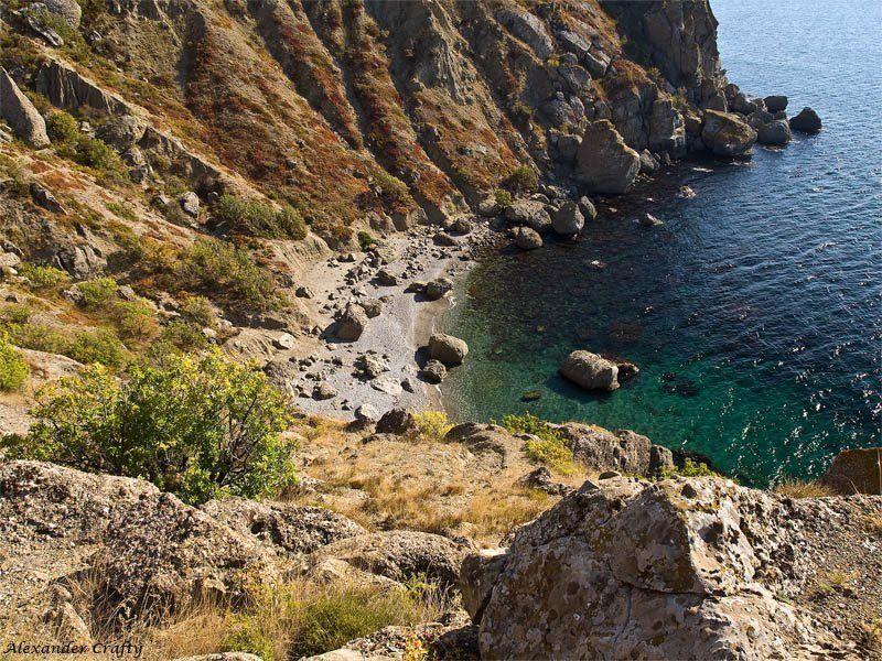 крым, море, камни Бухта Гравийнаяphoto preview