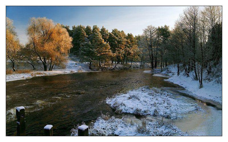 зима, река Зимняя река #3photo preview