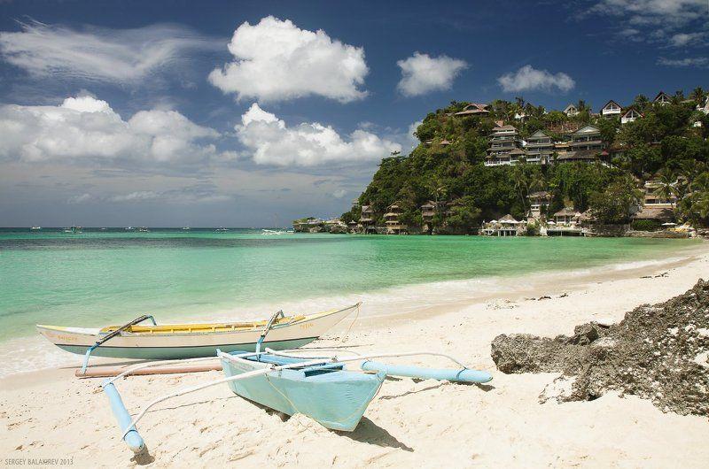 boracay, philippines, боракай, лодки, пляж, филиппины The beachphoto preview