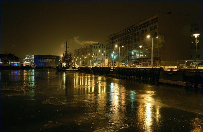 таллинн, порт, холод, февраль, 2007 Предрассветная...photo preview