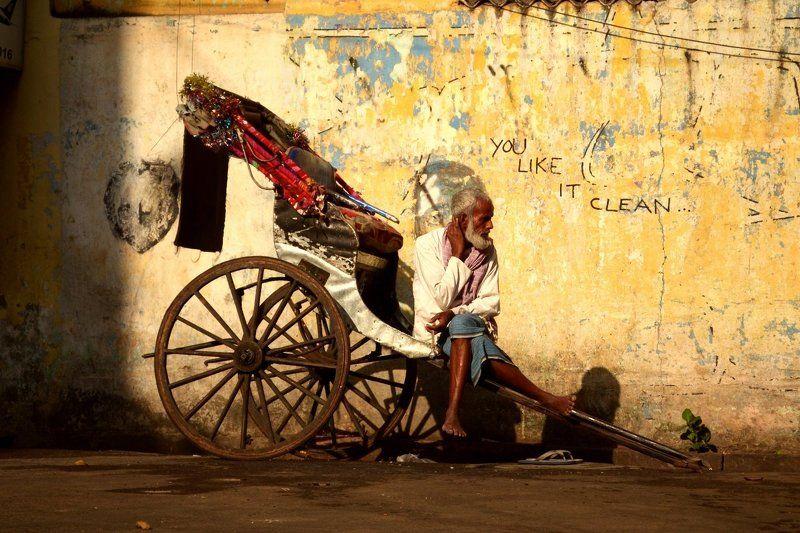 India, Город, Индия, Калькута, Рикша, Улица ***photo preview