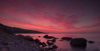 Ранее утро на Черноморском берегу