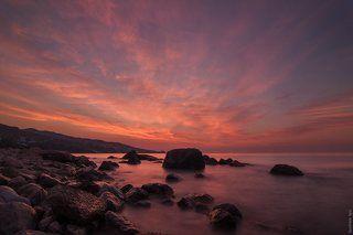 Рассвет на берегу Чёрного моря