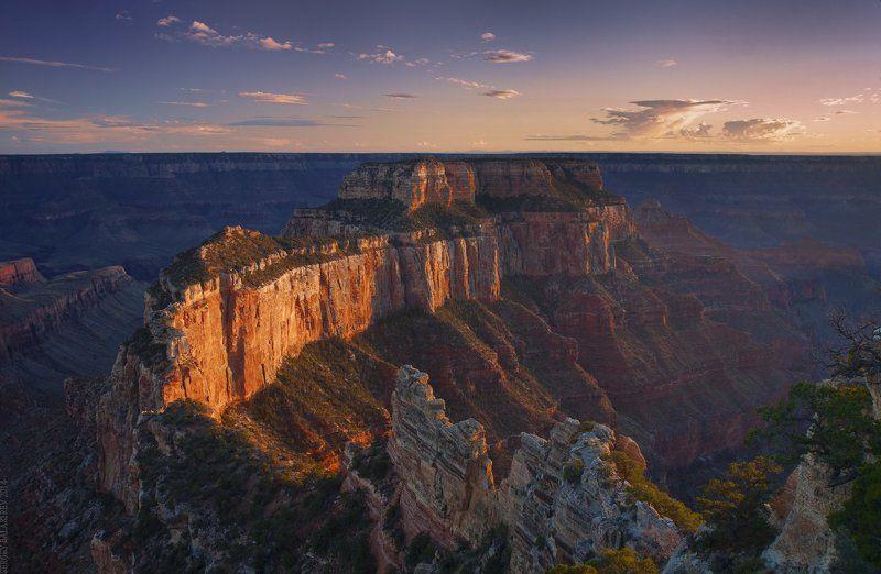 Закат в Гранд каньонеphoto preview