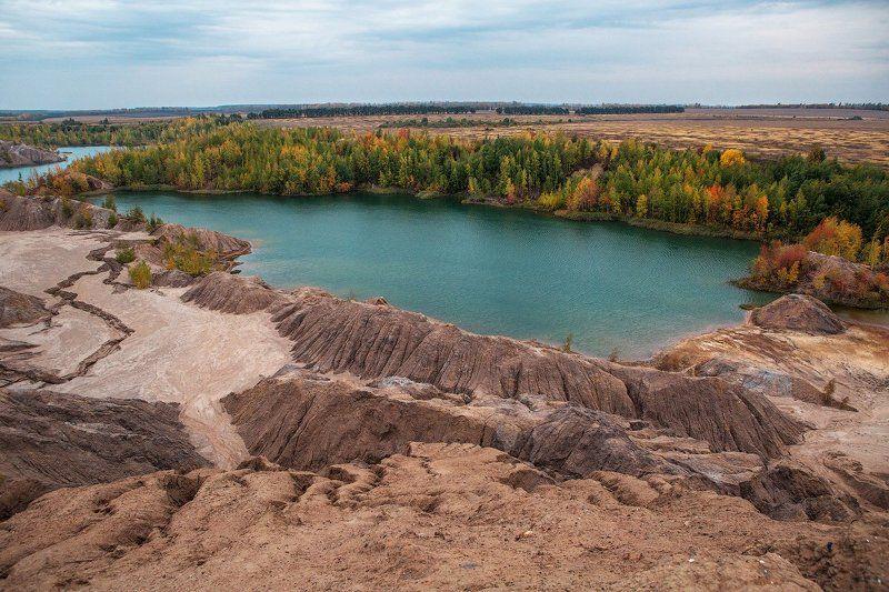 Горы, Озеро, Осень, Пейзаж, Россия photo preview