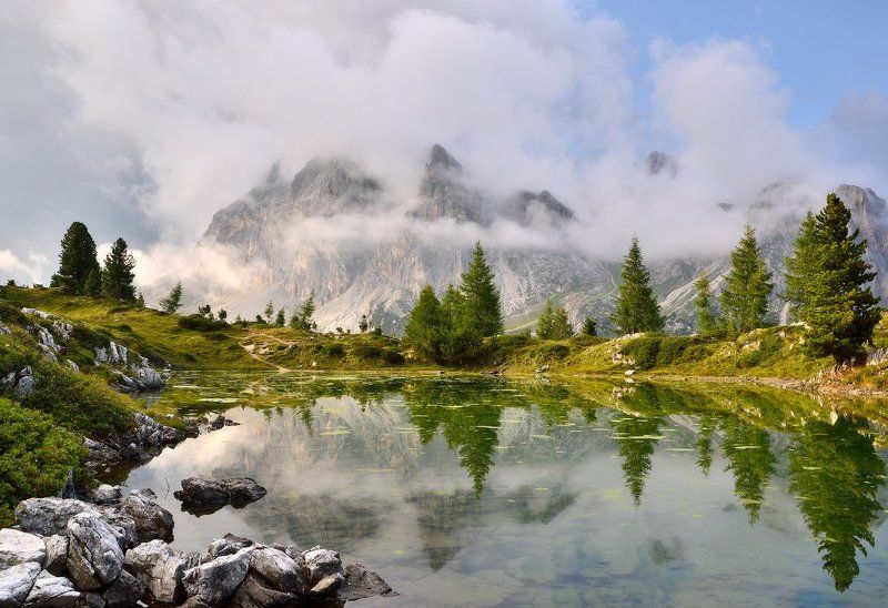 италия, доломиты, italy, lago di limides Lago di Limidesphoto preview