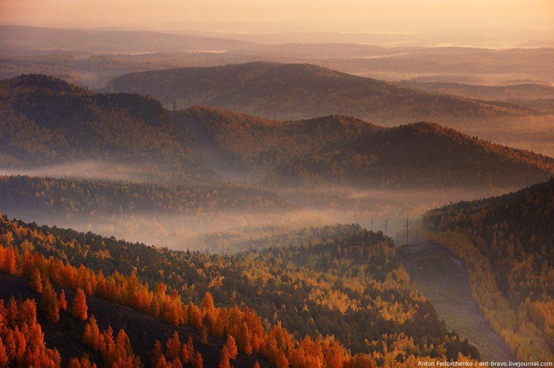 Горы, Карабаш, Осень, Рассвет, Южный урал Горы Карабашаphoto preview