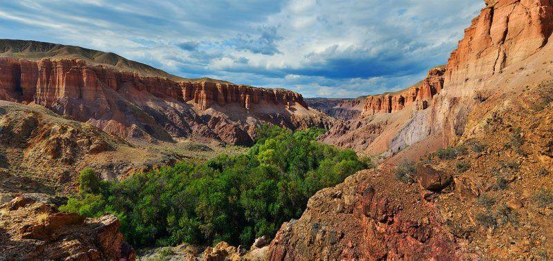 казахстан, чарын, каньон, пейзаж, панорама, kazakhstan, landscape Чарынphoto preview