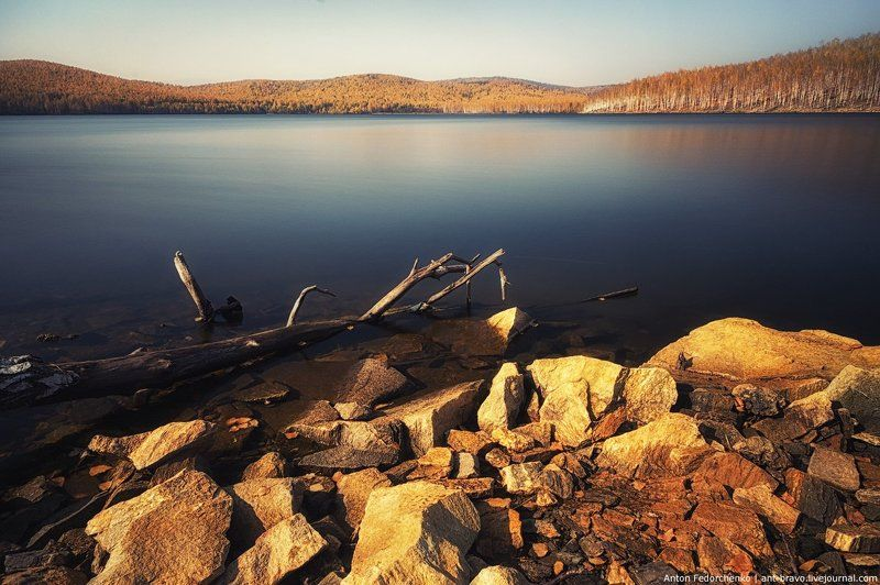 карабаш, озеро, осень, южный урал «Серебры» в золоте IIphoto preview