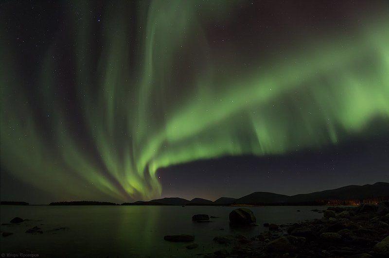 Белое море, Кольский полуостров, Полярное сияние Emerald heaven...photo preview