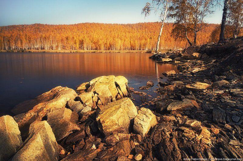 Карабаш, Озеро, Осень, Южный урал Серебры в золоте IIIphoto preview